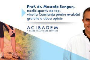 Prof. dr. Mustafa Sengun, medic sportiv de top, vine la Constanța pentru evaluări gratuite a doua opinie