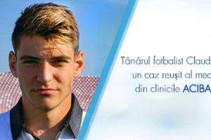 Tânărul fotbalist Claudiu Belu, un caz reușit al medicilor din clinicile ACIBADEM