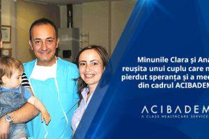 Minunile Clara și Ana, reușita unui cuplu care nu și-a pierdut speranța și a medicilor din cadrul ACIBADEM