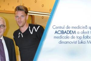 Centrul de medicină sportivă ACIBADEM a oferit terapii medicale de top fotbalistului dinamovist Luka Maric